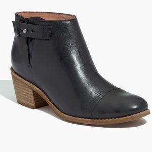 Madewell Black Leather Dakota Cutoff Boots
